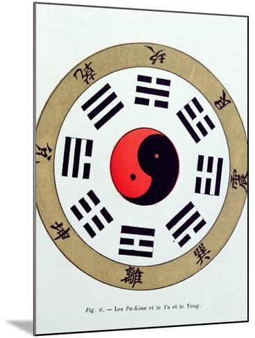 The Pa-Kua Symbol, Showing the Symbols For the Eight Changes, the Trigrams and Yin and Yang--Mounted Giclee Print