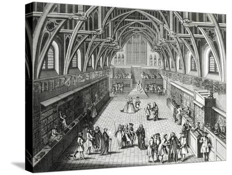 Westminster Hall, the First Day of Term, a Satirical Poem, 1797 Engraved by c.Mosley-Hubert Gravelot-Stretched Canvas Print