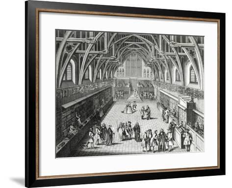 Westminster Hall, the First Day of Term, a Satirical Poem, 1797 Engraved by c.Mosley-Hubert Gravelot-Framed Art Print