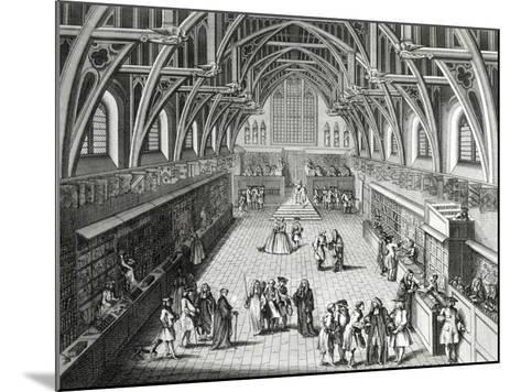 Westminster Hall, the First Day of Term, a Satirical Poem, 1797 Engraved by c.Mosley-Hubert Gravelot-Mounted Giclee Print