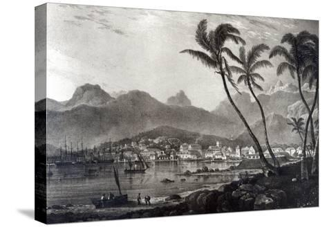 Port Louis from Views in the Mauritius by T.Bradshaw, Engraved by William Rider, 1831-T. Bradshaw-Stretched Canvas Print