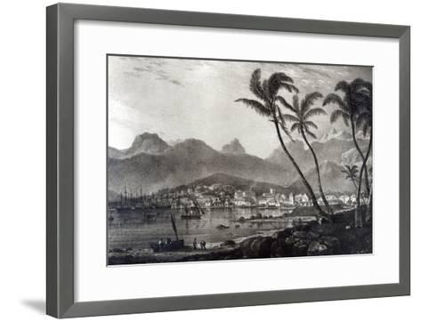 Port Louis from Views in the Mauritius by T.Bradshaw, Engraved by William Rider, 1831-T. Bradshaw-Framed Art Print