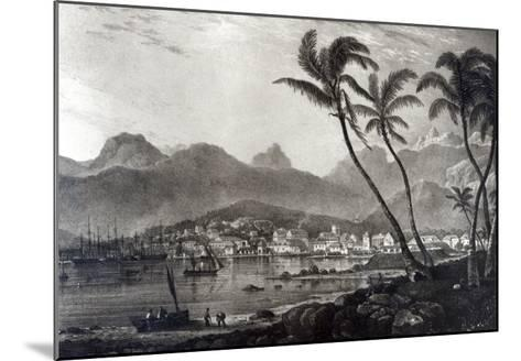 Port Louis from Views in the Mauritius by T.Bradshaw, Engraved by William Rider, 1831-T. Bradshaw-Mounted Giclee Print