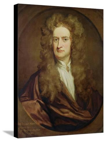 Portrait of Isaac Newton-Godfrey Kneller-Stretched Canvas Print