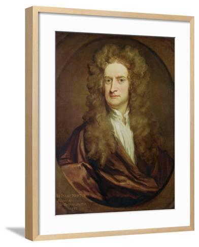 Portrait of Isaac Newton-Godfrey Kneller-Framed Art Print