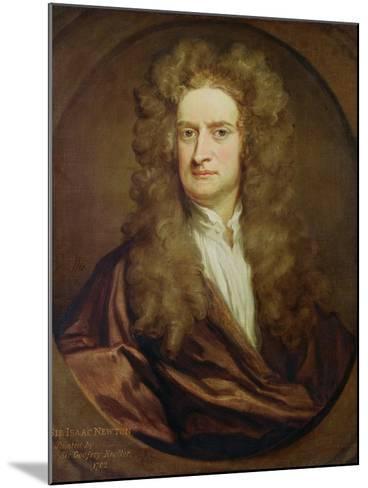 Portrait of Isaac Newton-Godfrey Kneller-Mounted Giclee Print