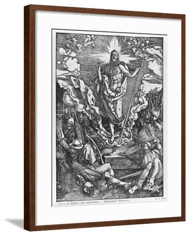 Resurrection, from 'The Great Passion' Series, 1510-Albrecht D?rer-Framed Art Print
