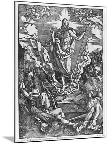 Resurrection, from 'The Great Passion' Series, 1510-Albrecht D?rer-Mounted Giclee Print
