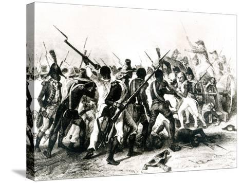 Battle of Vertieres, San Domingo, 18th November 1803, Engraved by Frilley, 1803--Stretched Canvas Print