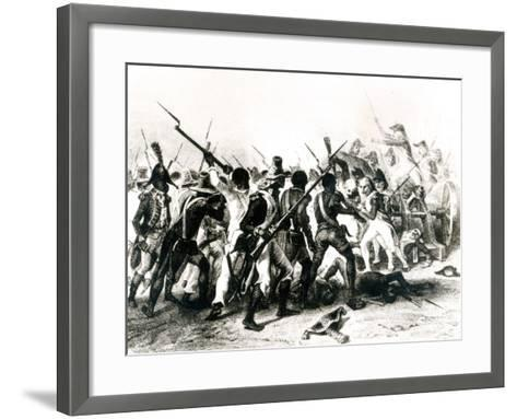 Battle of Vertieres, San Domingo, 18th November 1803, Engraved by Frilley, 1803--Framed Art Print