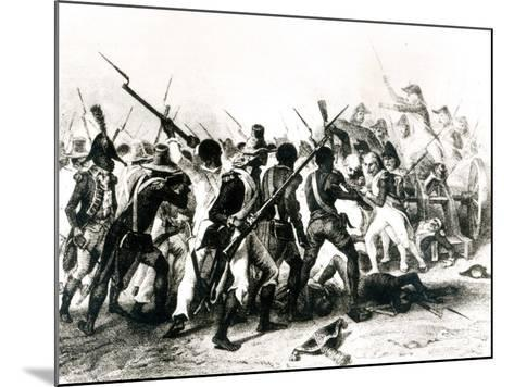 Battle of Vertieres, San Domingo, 18th November 1803, Engraved by Frilley, 1803--Mounted Giclee Print