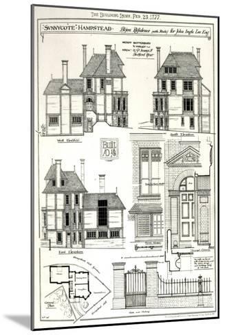 Bijou Residence Sunnycote, Hampstead--Mounted Giclee Print