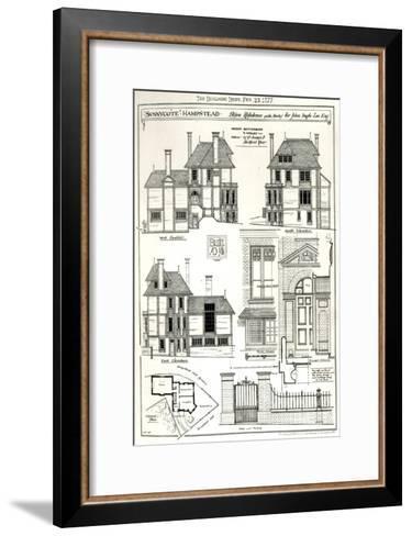 Bijou Residence Sunnycote, Hampstead--Framed Art Print
