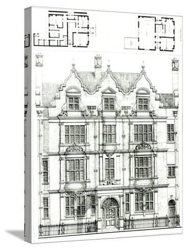 No.70 Ennismore Gardens, South Kensington, from The Building News, 23rd July 1886--Stretched Canvas Print