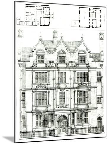 No.70 Ennismore Gardens, South Kensington, from The Building News, 23rd July 1886--Mounted Giclee Print