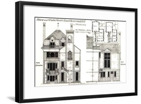 House and Studio, Steele's Road, Haverstock Hill, from The Building News, 9th February 1877--Framed Art Print