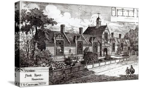 Park Road, Hampstead, from The Building News, 3rd September 1880--Stretched Canvas Print