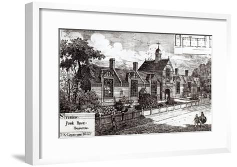 Park Road, Hampstead, from The Building News, 3rd September 1880--Framed Art Print