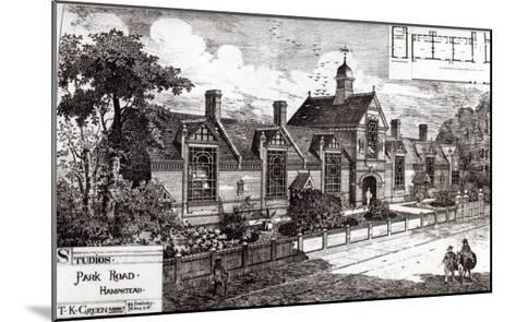 Park Road, Hampstead, from The Building News, 3rd September 1880--Mounted Giclee Print