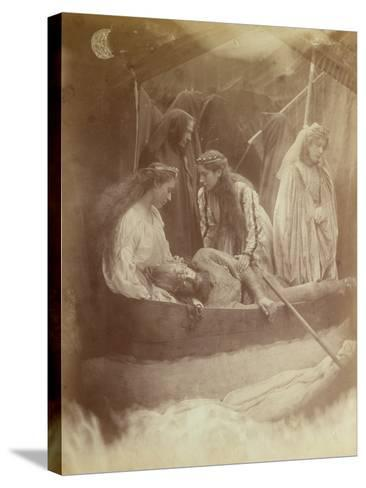 The Passing of King Arthur, Illustration from 'Idylls of the King' by Alfred Tennyson-Julia Margaret Cameron-Stretched Canvas Print