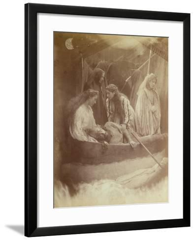 The Passing of King Arthur, Illustration from 'Idylls of the King' by Alfred Tennyson-Julia Margaret Cameron-Framed Art Print
