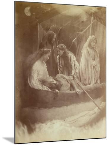 The Passing of King Arthur, Illustration from 'Idylls of the King' by Alfred Tennyson-Julia Margaret Cameron-Mounted Giclee Print