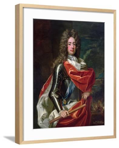 Portrait of John Churchill-Godfrey Kneller-Framed Art Print