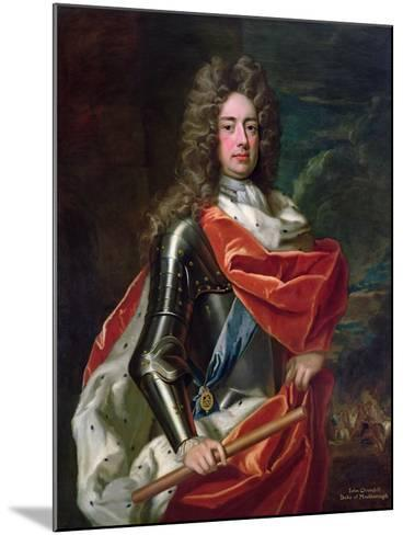 Portrait of John Churchill-Godfrey Kneller-Mounted Giclee Print