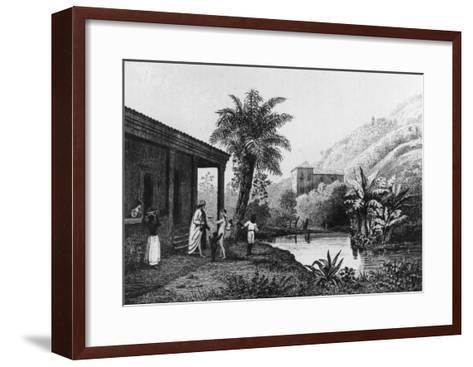 Coffee Plantation, from Bresil, Columbie et Guyanes by Ferdinand Denis and Cesar Famin 1837--Framed Art Print