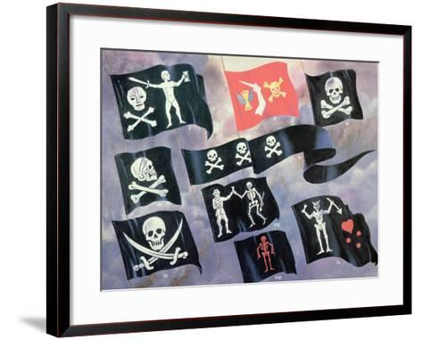 Various Flags Used by Famous Pirates--Framed Art Print