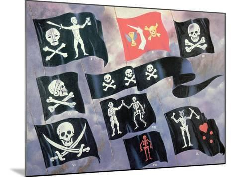 Various Flags Used by Famous Pirates--Mounted Giclee Print