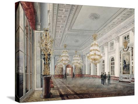 The Great Hall, Winter Palace, St. Petersburg, 1837-Vasili Semenovich Sadovnikov-Stretched Canvas Print