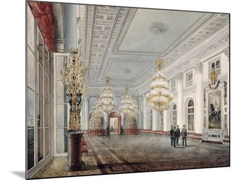 The Great Hall, Winter Palace, St. Petersburg, 1837-Vasili Semenovich Sadovnikov-Mounted Giclee Print