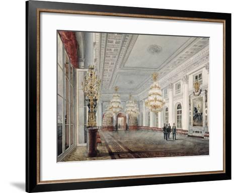 The Great Hall, Winter Palace, St. Petersburg, 1837-Vasili Semenovich Sadovnikov-Framed Art Print