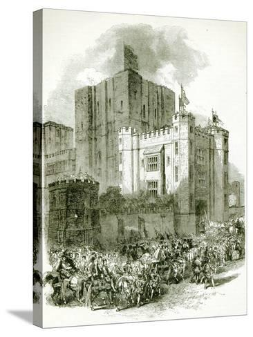 Reception of Queen Elizabeth at Kenilworth Castle--Stretched Canvas Print