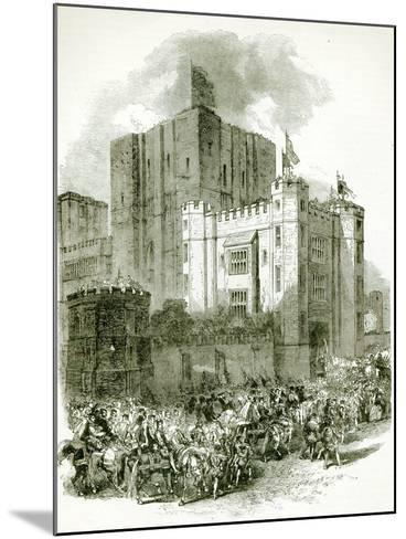 Reception of Queen Elizabeth at Kenilworth Castle--Mounted Giclee Print