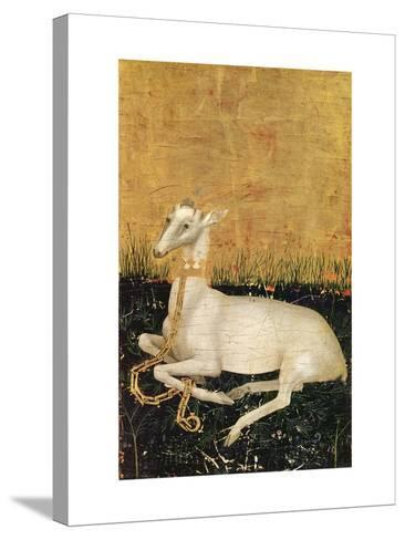 White Hart, from the Wilton Diptych c.1395-99-Master of the Wilton Diptych-Stretched Canvas Print