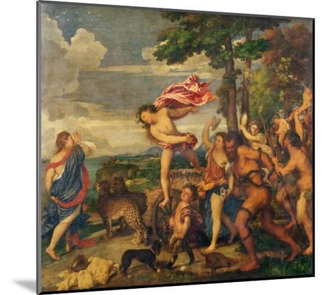 Bacchus and Ariadne, 1520-23-Titian (Tiziano Vecelli)-Mounted Giclee Print
