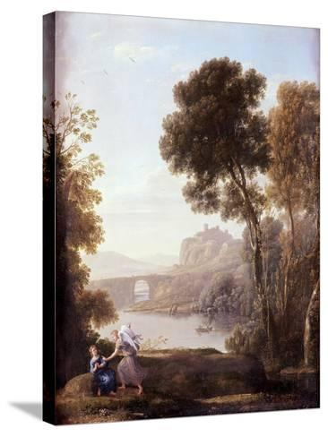 Landscape with Hagar and the Angel, 1646-Claude Lorraine-Stretched Canvas Print