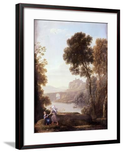 Landscape with Hagar and the Angel, 1646-Claude Lorraine-Framed Art Print