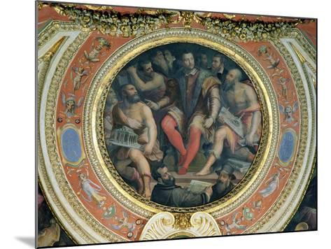 Cosimo I and His Artists, from the Sala Di Cosimo I-Giorgio Vasari-Mounted Giclee Print
