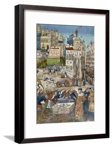 Construction of the Temple of Solomon at Jerusalem--Framed Art Print
