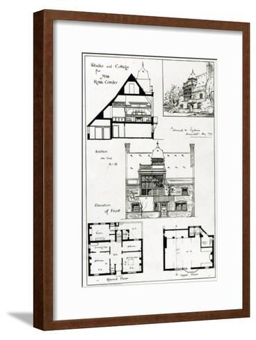 Studio and Cottage For Miss Rosa Corder, from 'The British Architect', 3rd October 1879--Framed Art Print