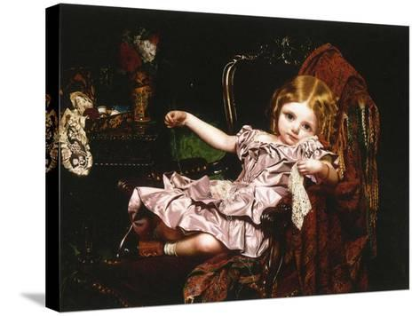 Young Girl in an Armchair, c.1850-Sophie Anderson-Stretched Canvas Print