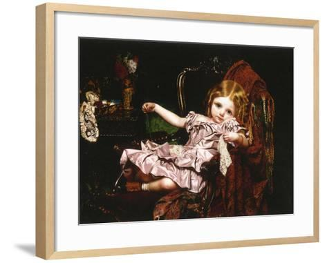 Young Girl in an Armchair, c.1850-Sophie Anderson-Framed Art Print