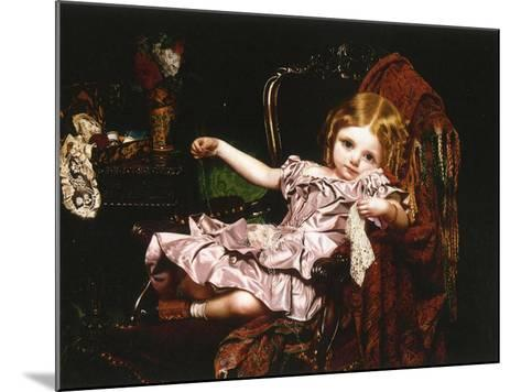 Young Girl in an Armchair, c.1850-Sophie Anderson-Mounted Giclee Print
