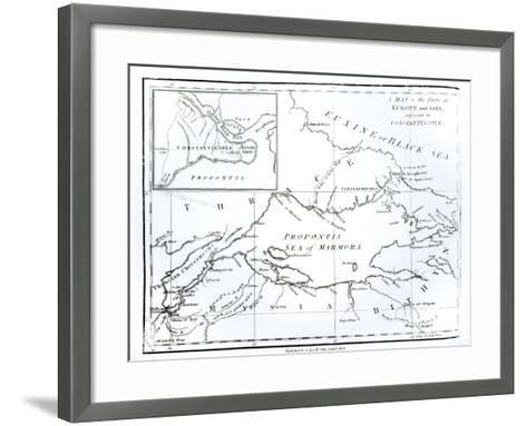 Parts of Europe and Asia Adjacent to Constantinople, c.1808--Framed Art Print