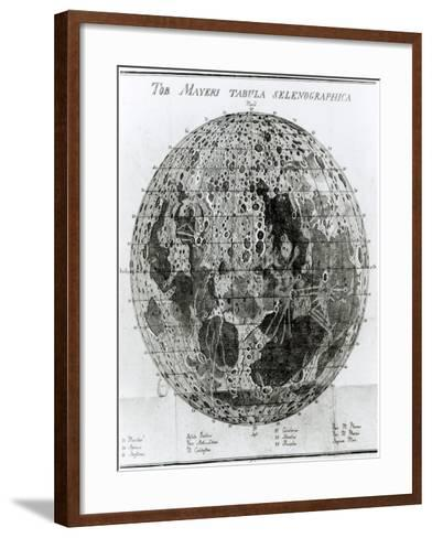 Surface of the Moon, Selenotopographische Fragmente by Schroeter, c.1791--Framed Art Print