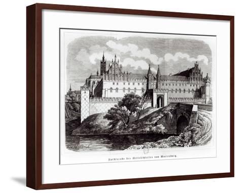 North Facade of the Castle of Marienburg--Framed Art Print