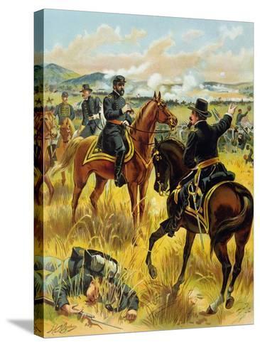 Major General George Meade at the Battle of Gettysburg on July 2nd 1863, 1900-Henry Alexander Ogden-Stretched Canvas Print